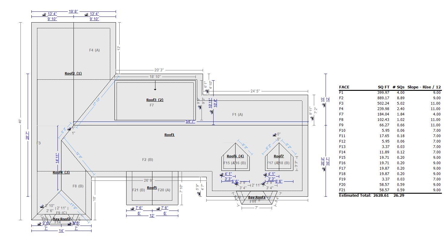 Rooftop Measurements Satellite Roof Measurements Usa